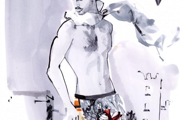 Givenchy-modele Ahmet Gaddard